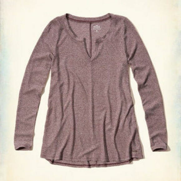 Hollister Tops - Hollister Burgundy Long Sleeve Top
